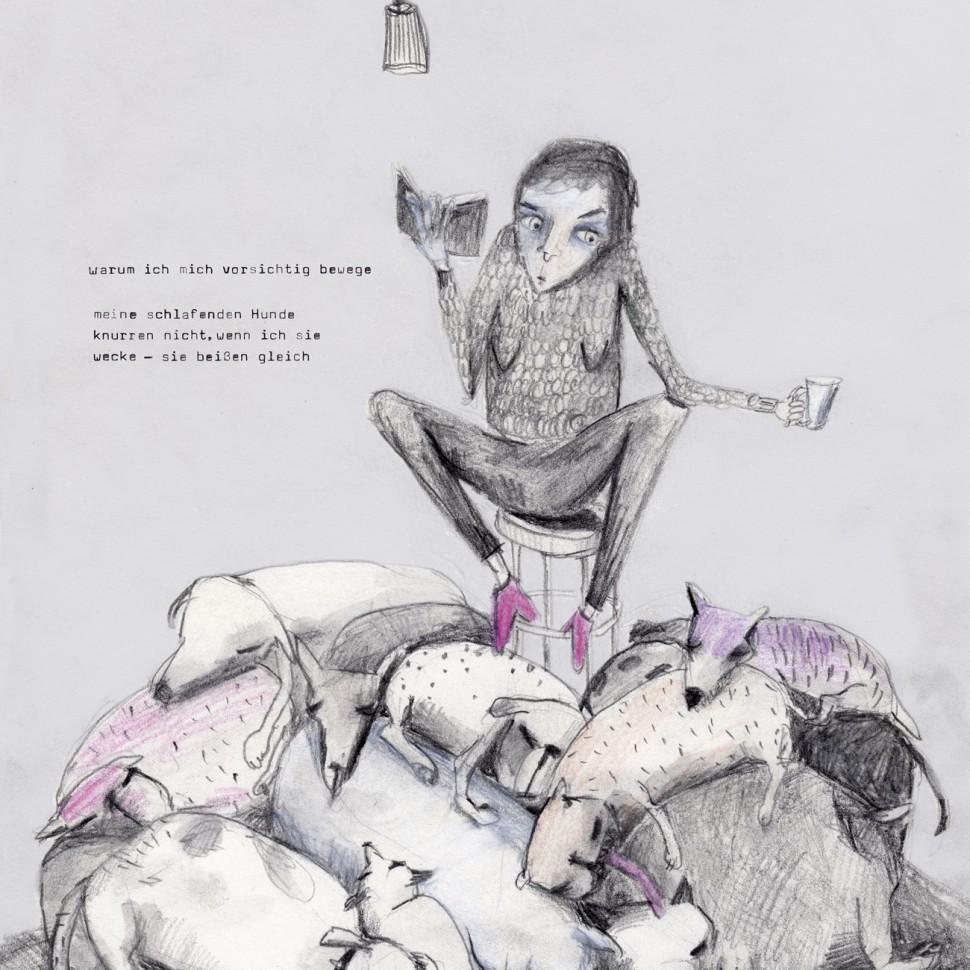 Hunde/Gedicht: Anna Breitenbach