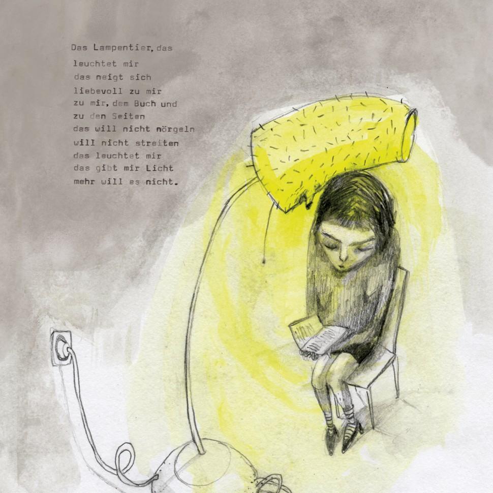 Lampentier/Gedicht: Anna Breitenbach