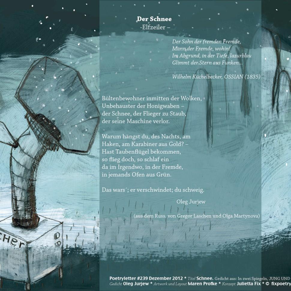 SchneeMaschine/Gedicht: Oleg Jurjew